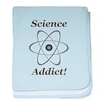 Science Addict baby blanket