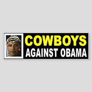 OBAMA COWBOYS BUMPER_001 Bumper Sticker