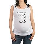 Basketball Addict Maternity Tank Top