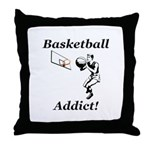 Basketball Addict Throw Pillow