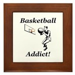 Basketball Addict Framed Tile