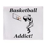 Basketball Addict Throw Blanket