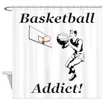 Basketball Addict Shower Curtain