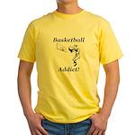 Basketball Addict Yellow T-Shirt