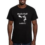 Basketball Addict Men's Fitted T-Shirt (dark)