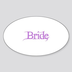 Bride - Pink Fantasy Oval Sticker