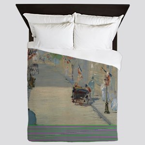 Edouard Manet - The Rue Mosnier with F Queen Duvet