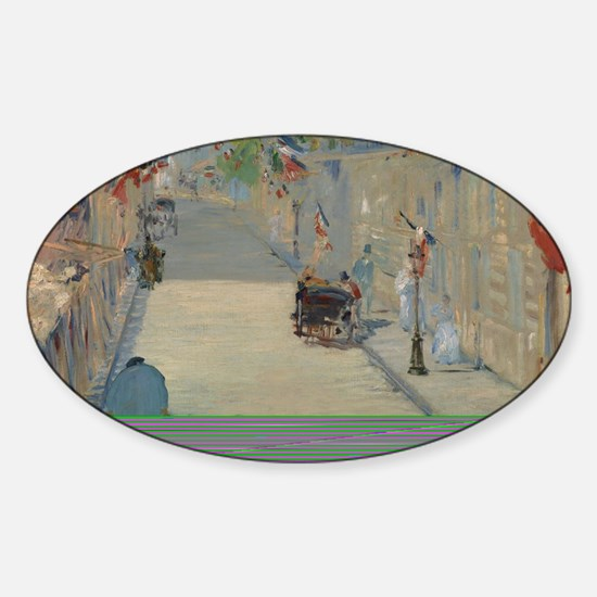 Edouard Manet - The Rue Mosnier wit Sticker (Oval)