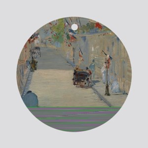 Edouard Manet - The Rue Mosnier wit Round Ornament