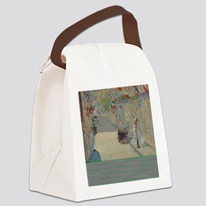 Edouard Manet - The Rue Mosnier w Canvas Lunch Bag
