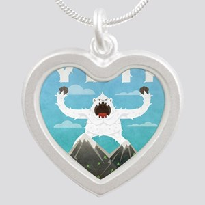 Yeti Silver Heart Necklace