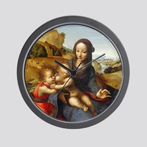Madonna and Child with the Infant Saint Wall Clock