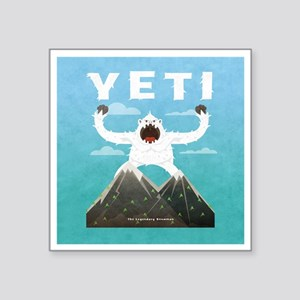 "Yeti Square Sticker 3"" x 3"""