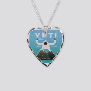 Yeti Necklace Heart Charm