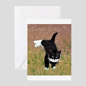 Mustache Kitten Greeting Cards