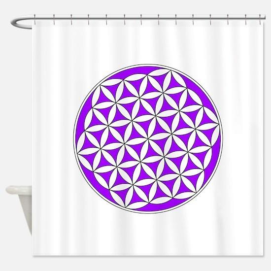 Flower of Life Purple Shower Curtain