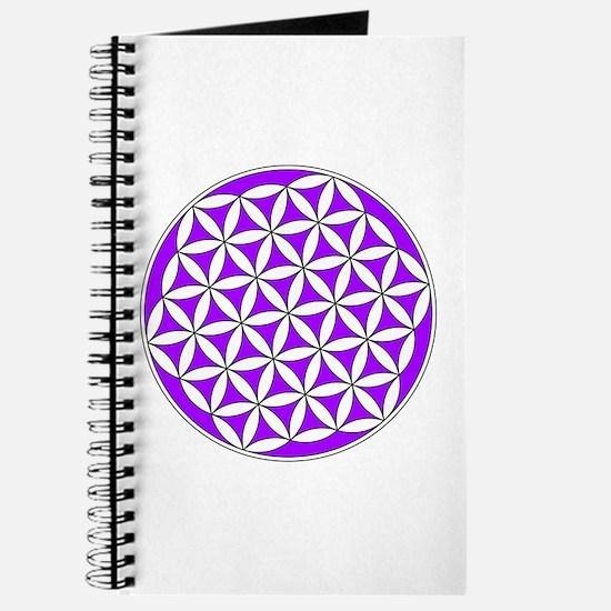 Flower of Life Purple Journal
