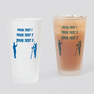Painters and Blue Text Drinking Glass