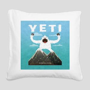 Yeti Square Canvas Pillow