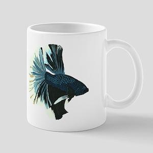 Blue Betta Male Mugs