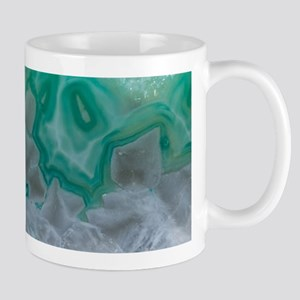 Teal Quartz Geode Mugs