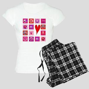 Valentine Monsters Women's Light Pajamas