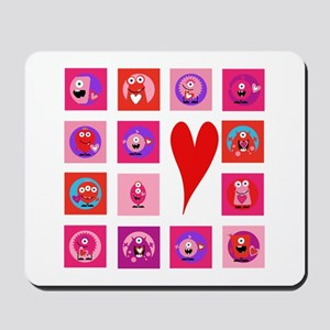 Valentine Monsters Mousepad