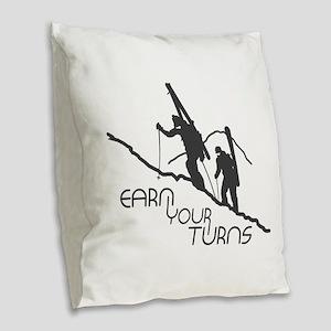Ear Your Turns Burlap Throw Pillow