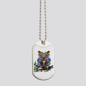 wild owl Dog Tags