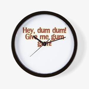 dum dum Wall Clock