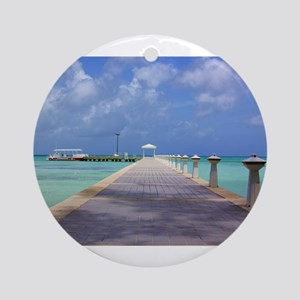 Rum Point Pier Ornament (Round)
