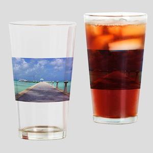 Rum Point Pier Drinking Glass
