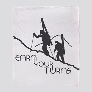 Earn Your Turns Throw Blanket