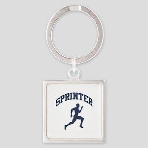 Sprinter Square Keychain