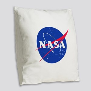 NASA Burlap Throw Pillow