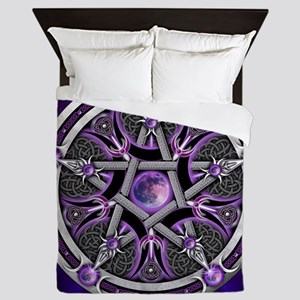 Purple Moon Pentacle Queen Duvet