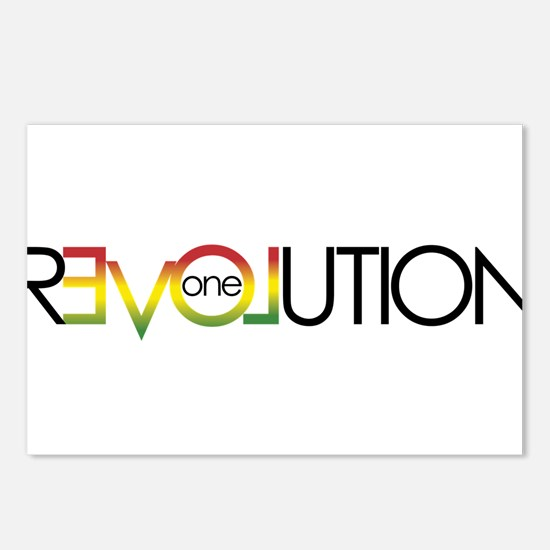 One Love revolution 5 Postcards (Package of 8)