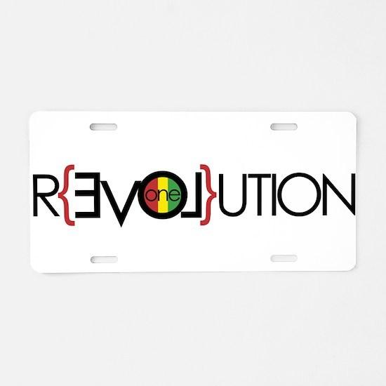 One Love Revolution 6 Aluminum License Plate