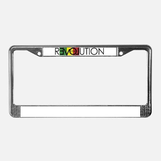 One Love Revolution 7 License Plate Frame