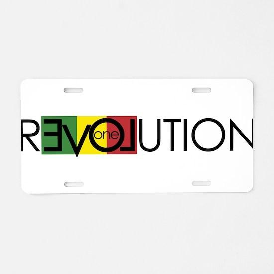 One Love Revolution 7 Aluminum License Plate