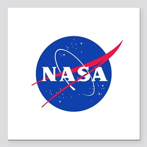 NASA Square Car Magnet 3 X 3 In.