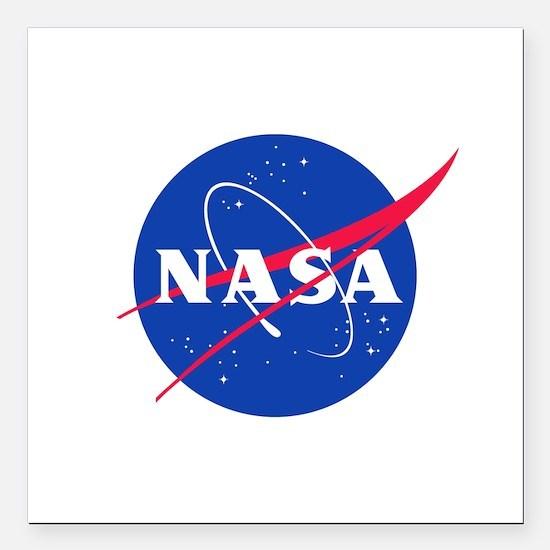 NASA Square Car Magnet 3 X 3 In.