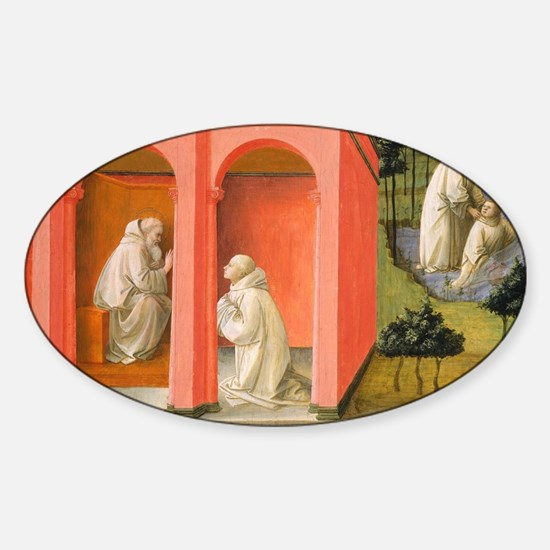Saint Benedict Orders Saint Maurus  Sticker (Oval)