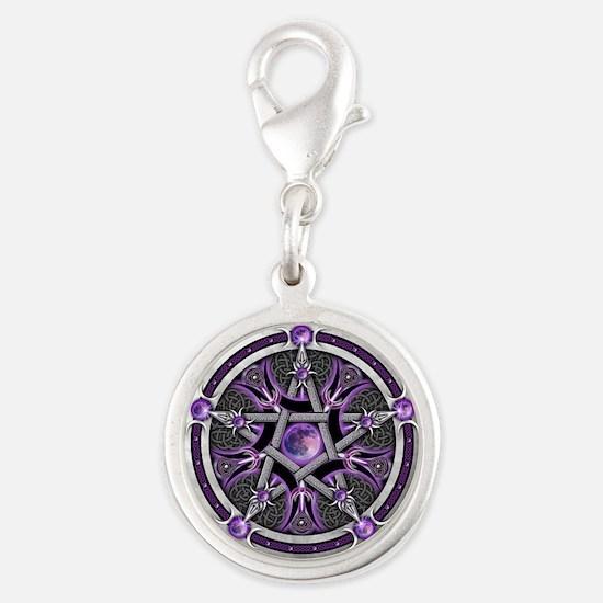 Purple Moon Pentacle Charms