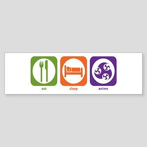 Eat Sleep Anime Bumper Sticker