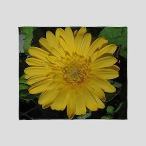 Yellow floral Gerber daisy  Throw Blanket