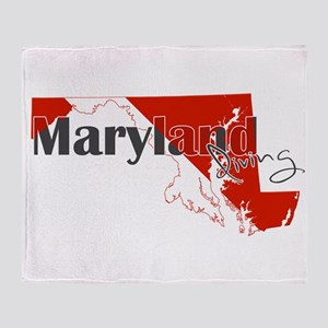 Maryland Diver Throw Blanket