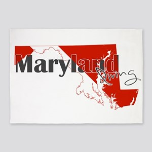 Maryland Diver 5'x7'Area Rug