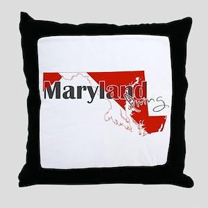 Maryland Diver Throw Pillow