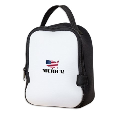 Murica Flag Neoprene Lunch Bag